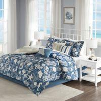 Madison Park Cape Cod Queen Comforter Set in Blue