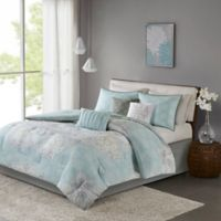 Madison Park Lucinda Reversible Queen Comforter Set in Blue