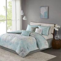 Madison Park Lucinda Reversible California King Comforter Set in Blue