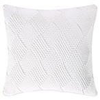 Coastal Living® Ocean Stripe Knit Square Throw Pillow in White