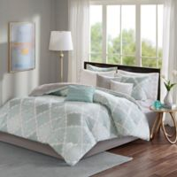 Madison Park Cadence King Comforter Set in Aqua