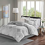 Madison Park Cadence California King Comforter Set in Grey