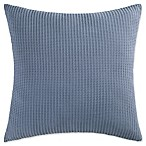 Coastal Living Ocean Stripe Palm Waffle Weave European Pillow Sham in Blue