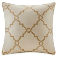 Madison Park Saratoga 20-Inch Square Decorative Pillow in Beige/Gold