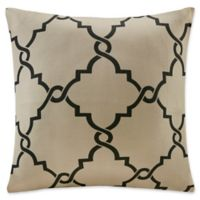 Madison Park Saratoga 20-Inch Square Decorative Pillow in Khaki/Black