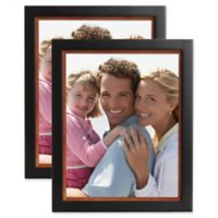 Muse 8-Inch x 10-Inch Wood Picture Frame in Black/Walnut (Set of 2)