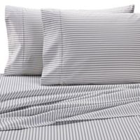 Wamsutta® Stripe 625-Thread-Count PimaCott® Queen Sheet Set in White