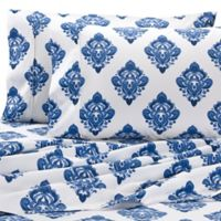 Wamsutta® Medallion Printed 625-Thread-Count PimaCott® Queen Sheet Set in Navy