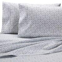 Wamsutta® Geo 625-Thread-Count PimaCott® California King Sheet Set in Grey