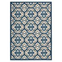 Nourison Waverly Sun & Shade Celestial 7'9 x 10'10 Indoor/Outdoor Rug in Blue