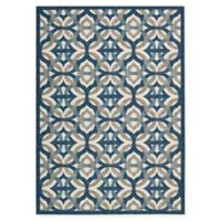 Nourison Waverly Sun & Shade Celestial 10' x 13' Indoor/Outdoor Area Rug in Blue