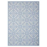 Nourison Sun & Shade Knotwork 5'3 x 7'5 Indoor/Outdoor Area Rug in Blue