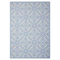 Nourison Sun & Shade Knotwork 5'3 x 7'5 Indoor/Outdoor Area Rug in Blue