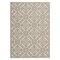 Nourison Sun & Shade Knotwork 7'9 x 10'10 Indoor/Outdoor Area Rug in Grey