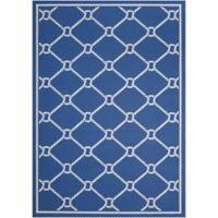 Nourison Waverly Sun & Shade Knot 5'3 x 7'5 Indoor/Outdoor Area Rug in Navy