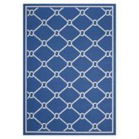 Nourison Waverly Sun & Shade Knot 10' x 13' Indoor/Outdoor Area Rug in Navy