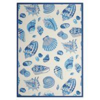 Nourison Waverly Sun & Shade Seashells 10' x 13' Indoor/Outdoor Area Rug in Ivory