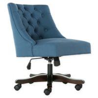 Safavieh Soho Tufted Velvet Swivel Desk Chair in Blue