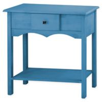Manhattan Comfort Jay Solid Wood Sideboard 1.0 in Blue Wash