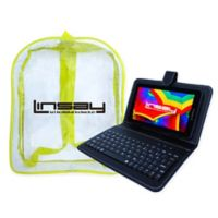 Linsay® Quad Core Tablet with Keyboard and Backpack in Black