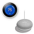 Nest® Learning Gen 3 Thermostat in White with Bonus Google Home Mini