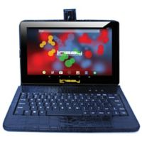 Linsay® 10.1-Inch 1280 x 800 IPS 16GB Tablet with Crocodile Case in Black