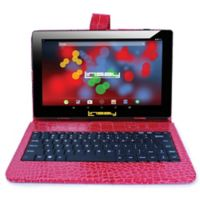 Linsay® 10.1-Inch 1280 x 800 IPS 16GB Tablet with Crocodile Case in Red