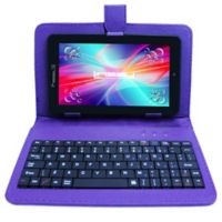 Linsay® 7-Inch Quad Core Tablet with Keyboard, Earphones and Pen in Black/Purple
