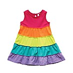 Planet Cotton® Size 12M Rainbow Racer-Back Multi-Tiered Twirl Dress