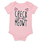 Baby Starters® Size 3M  Check Meowt  Short Sleeve Bodysuit in Pink