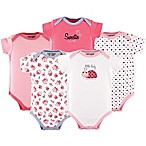 Luvable Friends® Size 9-12M 5-Pack  Little Lady  Short Sleeve Bodysuits in Pink