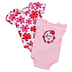 Baby Starters® Size 3M 2-Pack  Love You  Flower Ring Bodysuits in Pink