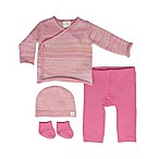 Cuddl Duds® Size 3M 4-Piece Kimono, Pant, Hat and Socks Set in Pink