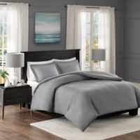 Madison Park Clay Full/Queen Duvet Cover Set in Grey
