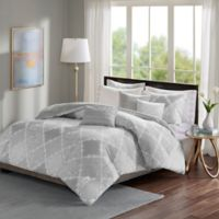 Madison Park Cadence Reversible King/California King Duvet Cover Set in Grey