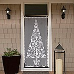 Heritage Lace® Christmas Tree 76-Inch Rod Pocket Window Curtain Panel in White