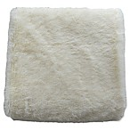 DE MOOCCI Faux Fur Throw Blanket in Cream