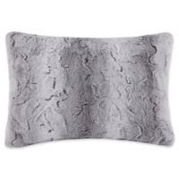 Madison Park Zuri Oblong Throw Pillow in Grey