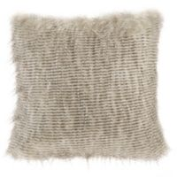 Madison Park Edina Faux Fur 20-Inch Square Throw Pillow in Natural