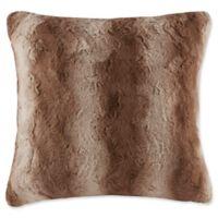 Madison Park Zuri Square Throw Pillow in Tan