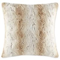 Madison Park Zuri Square Throw Pillow in Sand