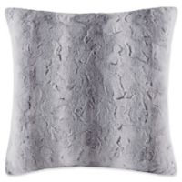 Madison Park Zuri Square Throw Pillow in Grey