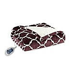 Beautyrest Ogee Heated Snuggle Wrap in Purple