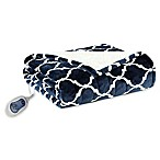 Beautyrest Ogee Heated Snuggle Wrap in Indigo
