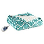 Beautyrest Ogee Heated Snuggle Wrap in Aqua