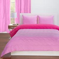 Crayola Reversible Solid 2 Piece Twin Comforter Set In Pink Flamingo Hot Magenta