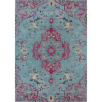 Momeni Jewel 2' x 3' Loomed Accent Rug in Blue
