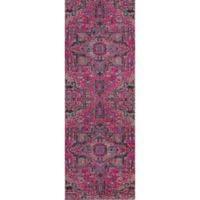 Momeni Jewel Floral 2'7 x 7'6 Runner in Pink