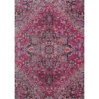 Momeni Jewel Floral 7'10 x 9'10 Area Rug in Pink