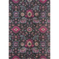 Momeni Jewel 2' x 3' Floral Loomed Accent Rug in Charcoal